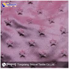 china factory polyester luxury soft minky fabric minky dot