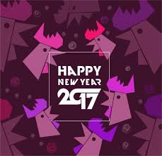 happy new year backdrop 2017 new year backdrop geometric roosters collection style vectors
