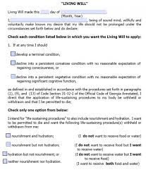 advance directive form new york advance directives living will