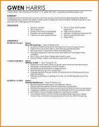 Resume Examples For Servers by Large Size Of Resumeexcel Massage Therapy Emily Oliverio Acting