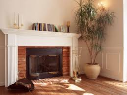 decorate a brick fireplace mantelfarmhouses u0026 fireplaces