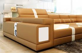 Camel Leather Sofa by Sofa With Ottoman Camel Leather Sectional Sofa With Ottoman Vg144