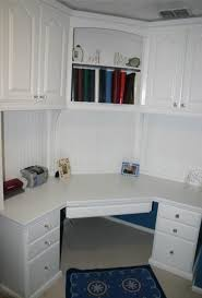 corner desk with hutch in home office traditional with next to n