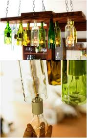 Diy Glass Bottle Chandelier 50 Brilliant Repurposing Ideas To Turn Old Kitchen Items Into