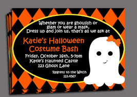halloween kid u0027s costume party invitation printable or