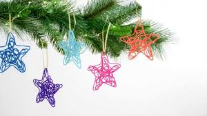 one more minute easy to make string christmas tree ornaments