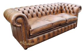 Fibre Filled Sofa Cushions Chesterfield 3 Seater Antique Tan Leather Sofa Settee Offer Fibre