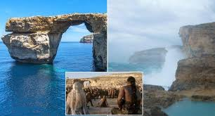 Azure Window World Famous Malta Rock Formation And Game Of Thrones Location