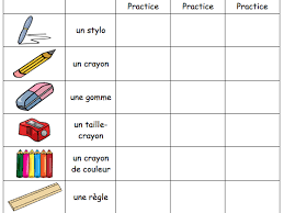 year 7 classroom schoolbag objects by myrtille teaching