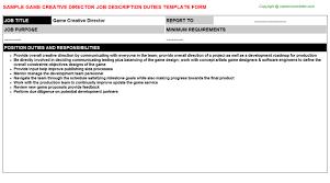 Construction Worker Job Description Resume by Game Creative Director Job Description