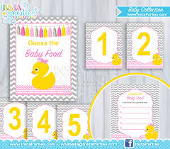 rubber duck baby shower rubber ducky baby shower guess the baby food girl rubber duck