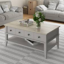 ameriwood furniture newport coffee table taupe natural