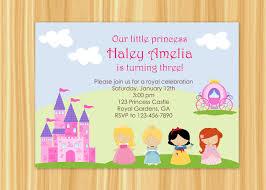 birthday invites wonderful princess birthday party invitations