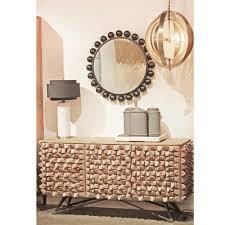 Reclaimed Sideboard Mersin Modern Rustic Reclaimed Chunky Wood Metal Sideboard Buffet