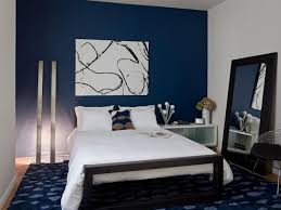 Gray And Blue Bedroom by Blue Master Bedroom Ideas Simple Nailhead Border Oxford Wood