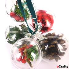 make easy diy ornaments using our clear fillable acrylic domes