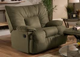 Oversized Leather Recliner Chair Furniture Padded Angle Arm And Fully Padded Chaise With Simmons