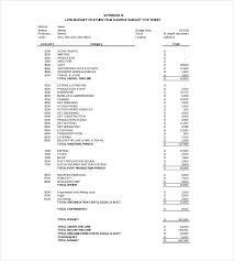 sample budget event budget worksheet example 7 event budget