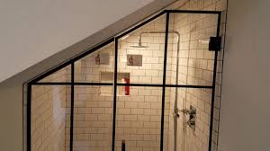 Black Shower Door Custom Frameless Glass Shower Enclosure With Matte Black Hardware