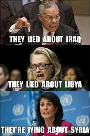 Gaddafi Meme - us war of terror continues on with syrian false flag attack the