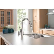 Moen Kitchen Faucet Brushed Nickel Shop Moen Kendall Spot Resist Brushed Nickel 1 Handle Pull Down
