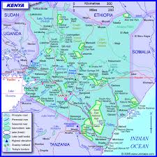geographical map of kenya kenya information