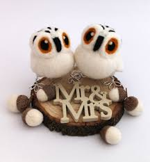 birds wedding cake toppers mini barn owl wedding cake topper