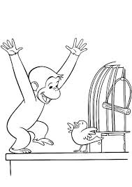 curious george coloring pages wearing big hat cartoon coloring