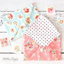 sewing tutorial pretty fabric envelopes a spoonful of sugar