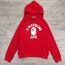 buy cheap bape a bathing ape classic red hoodie online at