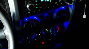 jeep wrangler dashboard lights jeep wrangler jk blue dash lighting led youtube
