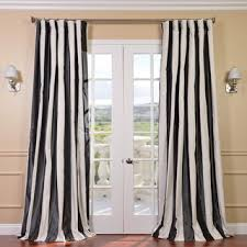 Black And White Stripe Curtains Signature Stripe Black White Faux Silk Taffeta Curtain Panel