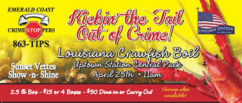 Emerald Coast Florida Map by Emerald Coast Crime Stoppers Crawfish Boil Uptown Station