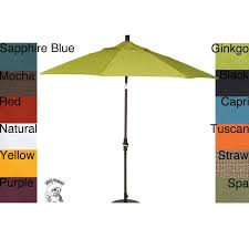 Market Patio Umbrella 9 Foot Pacifica Fabric Aluminum Market Patio Umbrella