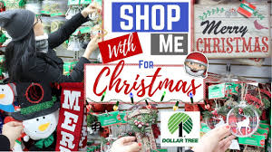 shop with me for christmas decorations dollar tree edition