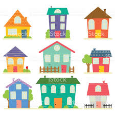 cute little house home sweet home illustracion libre de derechos