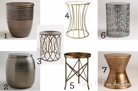 round metal side table modern stunning round metal accent table roundup side tables