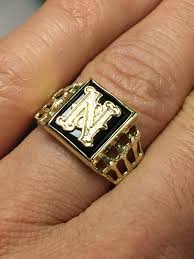 mens monogram ring 10k solid gold men s onyx initial ring monogram ring