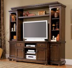 Living Room Entertainment Furniture Cherry Wood Entertainment Center Homesfeed