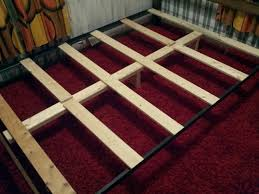 How To Build A King Size Platform Bed With Drawers by How To Support A Mattress Without A Box Spring Build A Diy Bed