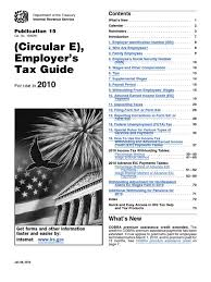 irs publication 15 withholding tax tables 2010 consolidated