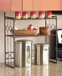 Kitchen Storage Shelves by Bronze 2 Tier Shelf Kitchen Counter Space Saver Cabinet Spice Rack