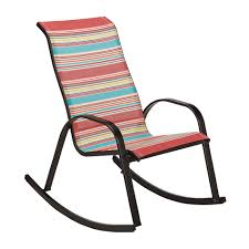 Patio Stack Chairs by Essential Garden Bartlett Stack Rocker Multicolored Stripe