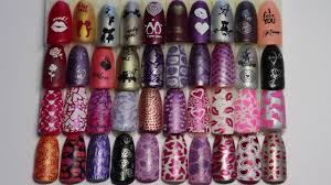 lina nail art stamping plate all about love 01 full swatch review