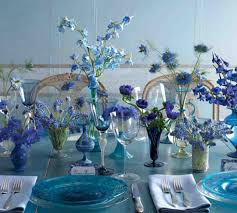 blue centerpieces 28 table centerpieces in different styles everafterguide