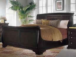 King Size Leather Sleigh Bed Leather Sleigh Bed King Size Vine Dine King Bed Black Leather