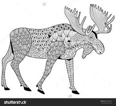 moose coloring page free printable moose coloring pages for kids