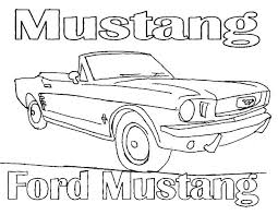 draw car mustang coloring pages place color