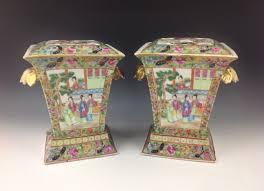 canton porcelain pair canton porcelain bough pots philip carrol antiques