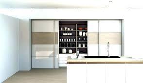 placard coulissant cuisine porte coulissante meuble cuisine avec placard coulissant rail bas de